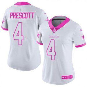 Women Cowboys Dak Prescott  White Jersey